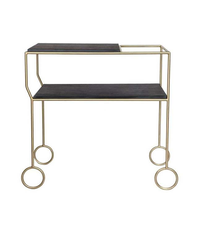 Modern Living Supplies Biron Slate Top Bar Cart