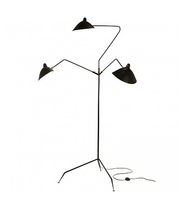 Serge Mouille Three-Arm Rotating Floor Lamp