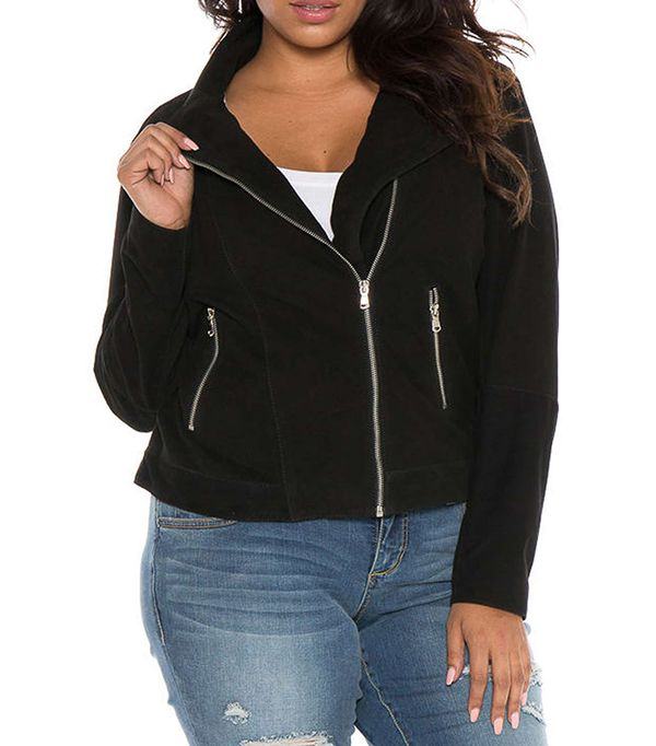 Plus Size Women's Slink Jeans Canyon Suede Jacket