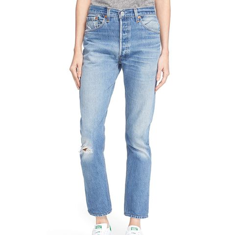 The High Waist Reconstructed Jeans
