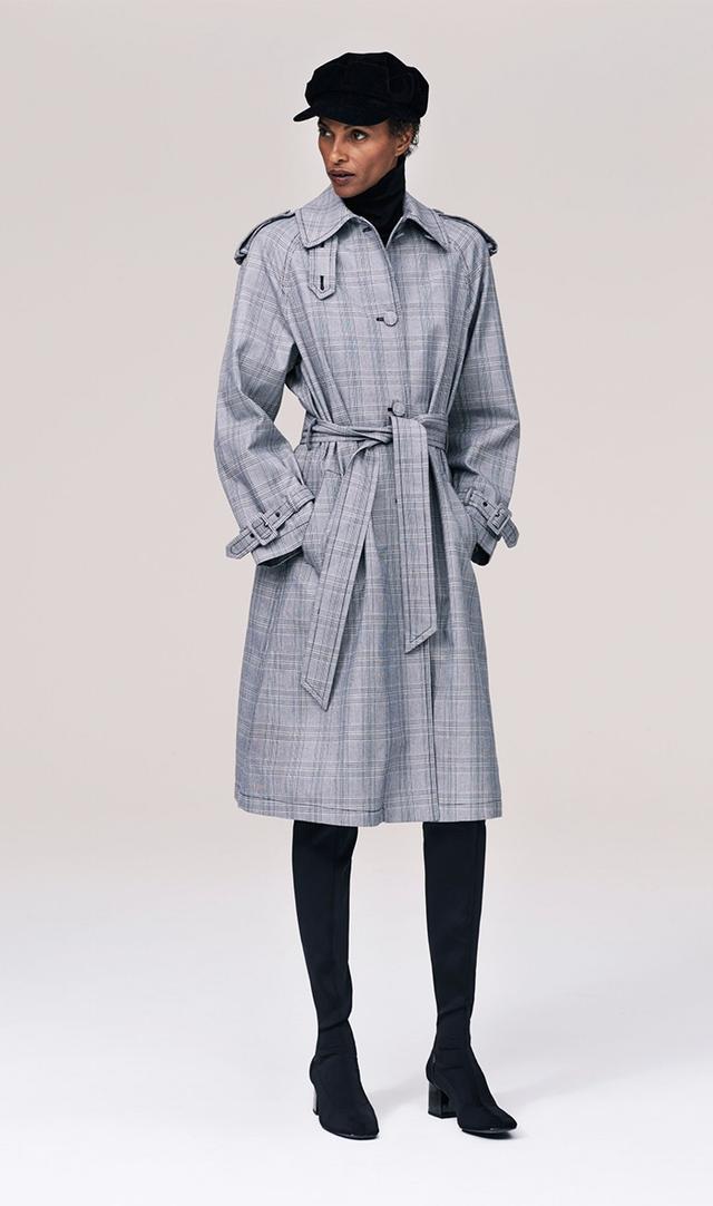 Zara Checked Trench Coat