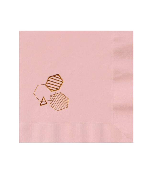 White Lilac Throwing Shapes Napkin