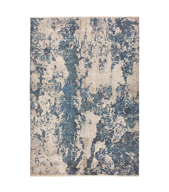 ABC Carpet & Home Contemporary Silk and Wool Rug