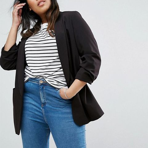 Mix & Match Rouched Sleeve Blazer