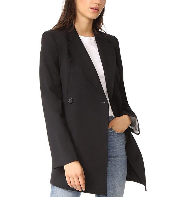 Deconstructed Long Blazer