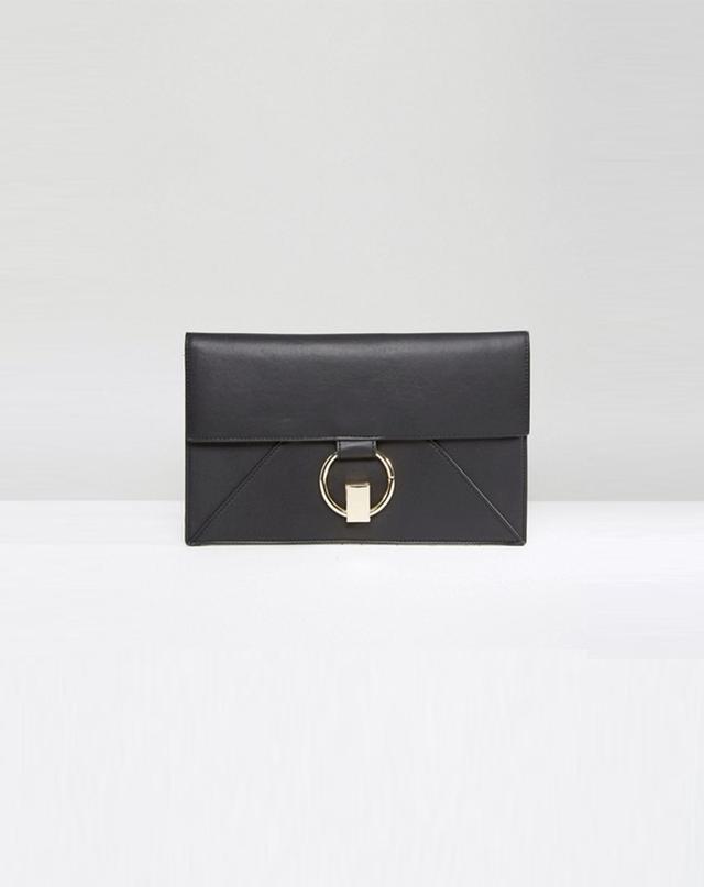 ASOS Slim Ring Twist Lock Clutch Bag