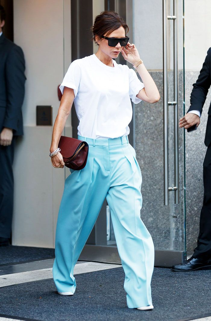 Victoria Beckham T-Shirt and trousers