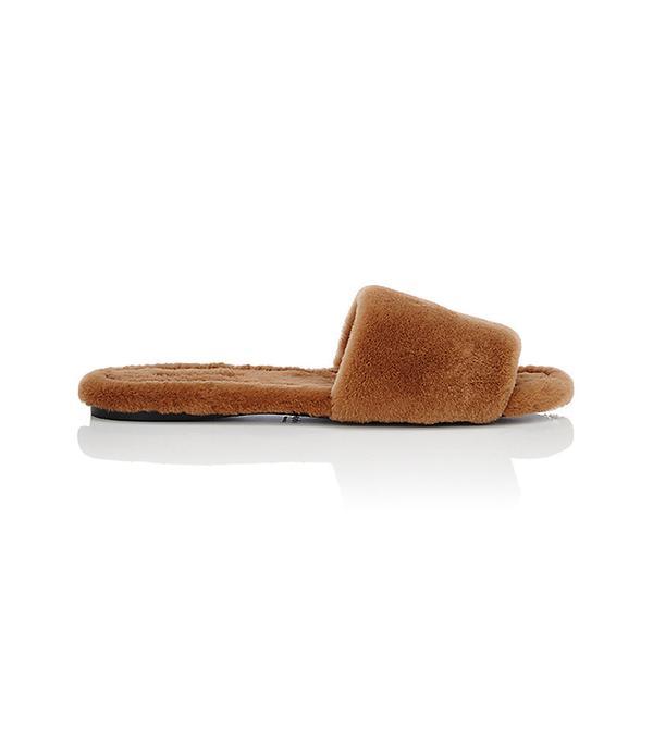 Women's Ellen Mink Fur Slide Sandals