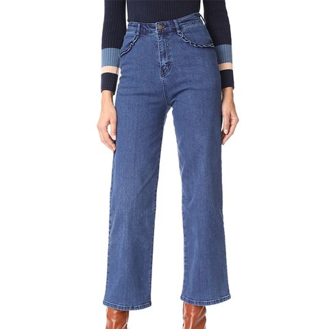 Morgan Ruffle Jeans