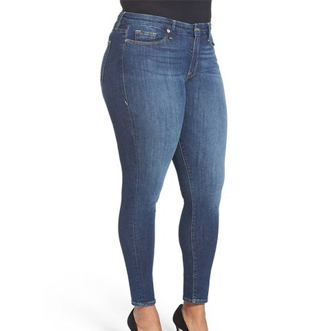 Plus Size Good Legs High Rise Skinny Jeans