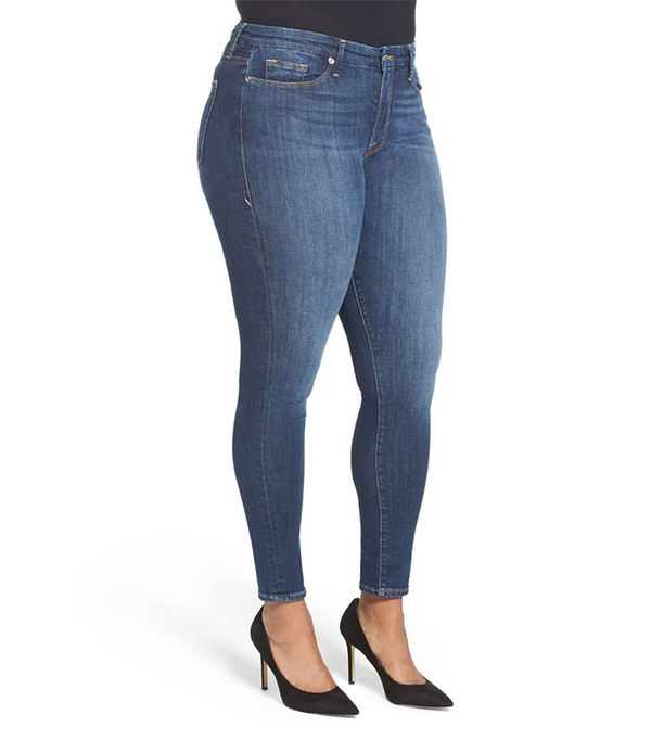 Plus Size Women's Good American Good Legs High Rise Skinny Jeans