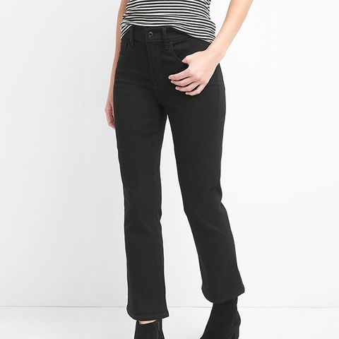 High Rise Everblack Crop Flare Jeans
