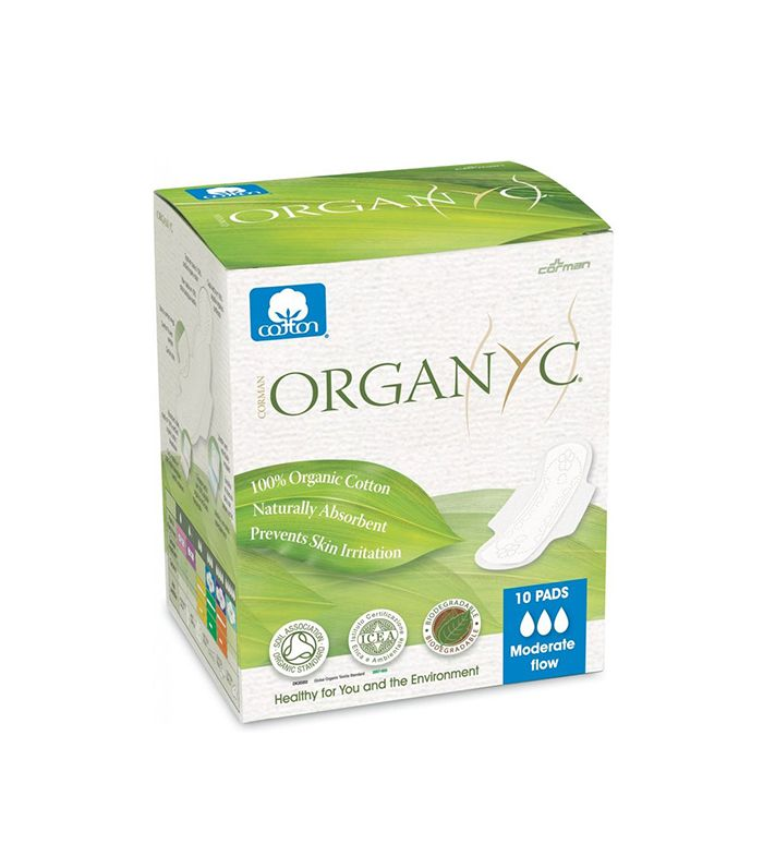 Organcy Organic Cotton Menstrual Pads With Wings Moderate Flow - 10 Pad(s) - alternative period products