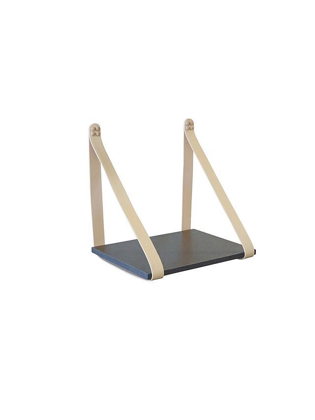 H&E Designs Leather Strap Side Table