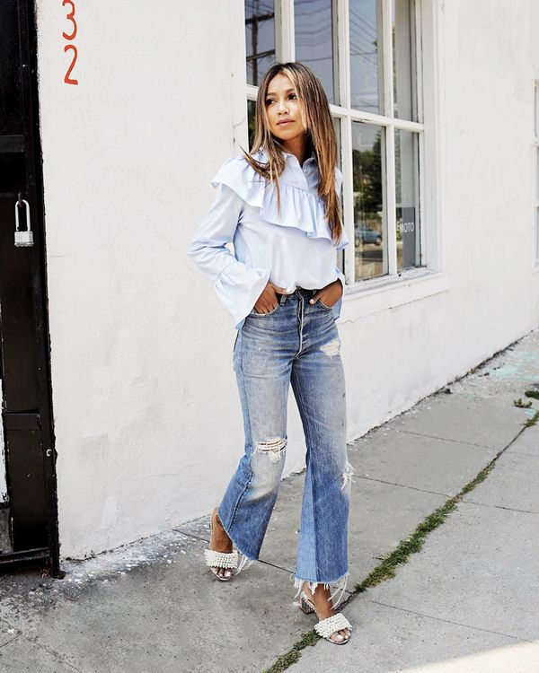 How to Style Cropped Flare Jeans
