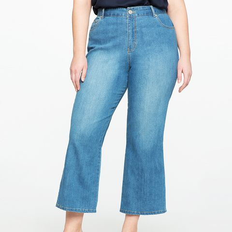 Cropped Flare Leg Jeans