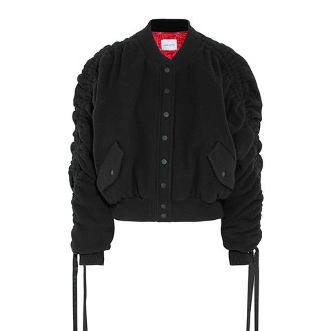 Clarice Wool and Cashmere-Blend Felt Bomber Jacket