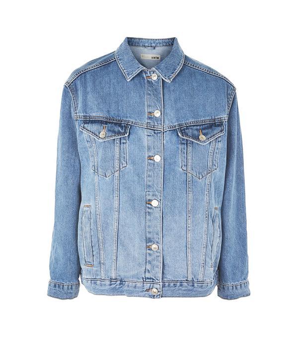 PETITE Mid Wash Denim Jacket