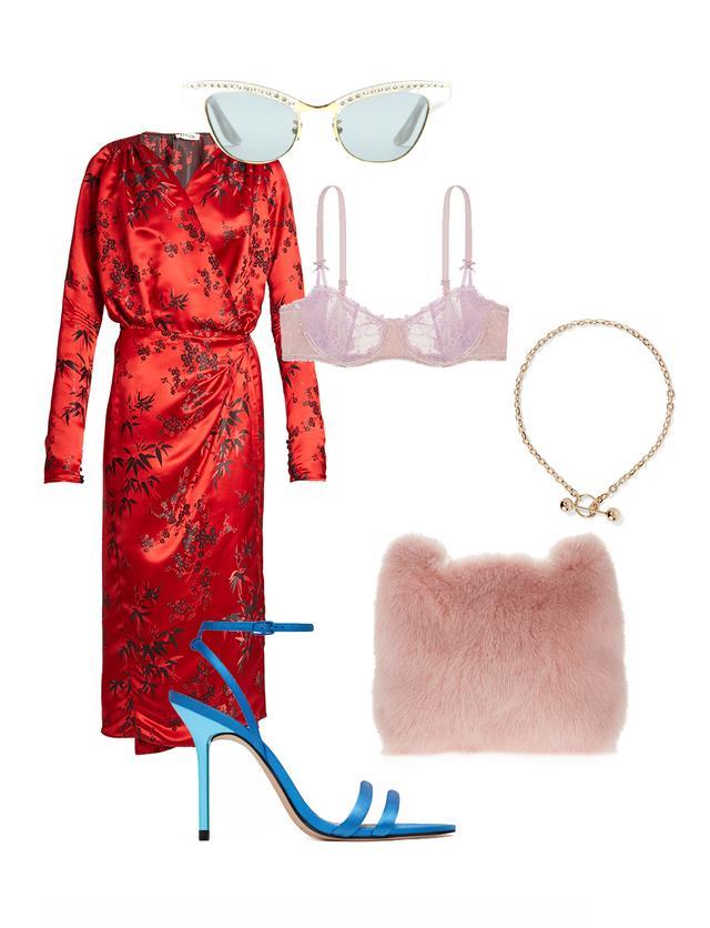red-attico-dress