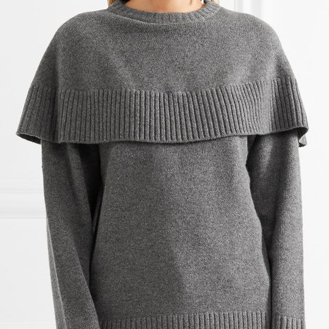 Oversized Layered Cashmere Sweater