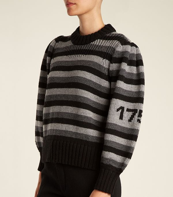Striped-wool sweater