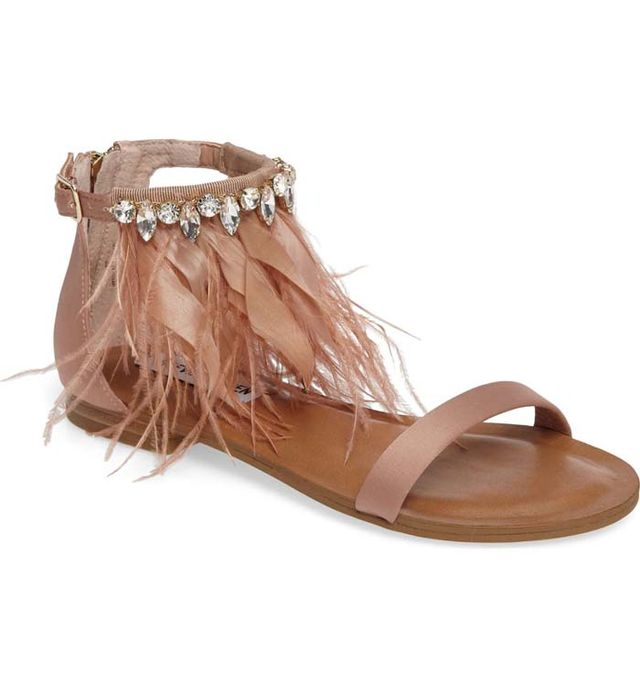Adore Embellished Feather Sandal
