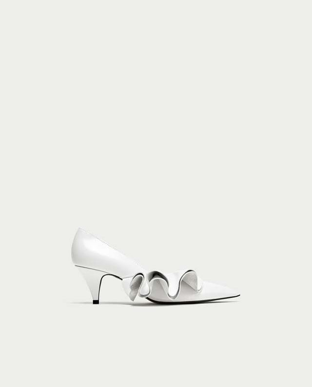 Zara Ruffled Court Shoes