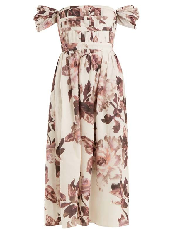 Demi floral-print cotton dress