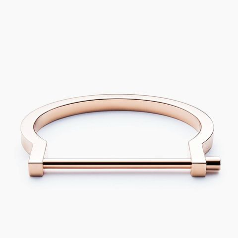 Modern Screw Cuff Bracelet, Rose Gold
