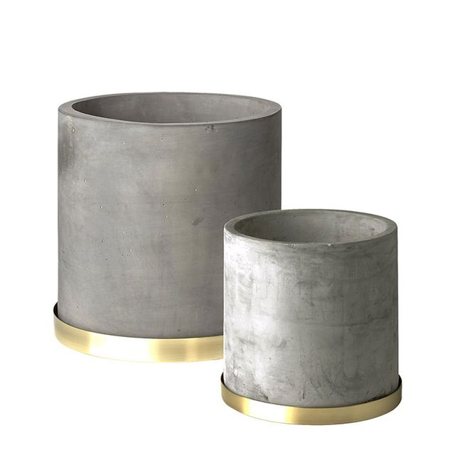 Moda Large Cement Planter