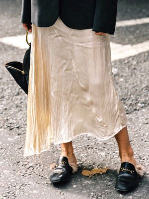 An Incredibly Chic Way to Wear a Slip Dress