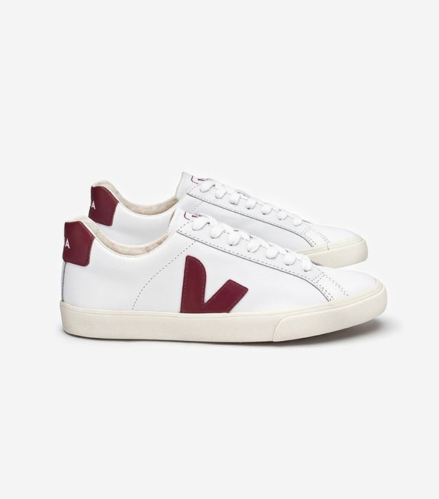 Veja Esplar Leather White Marsala Sneakers