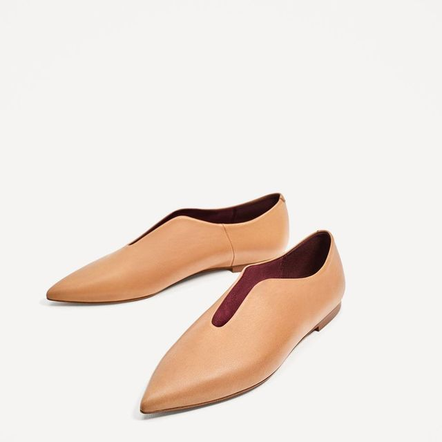 FLAT POINTY LEATHER SHOES
