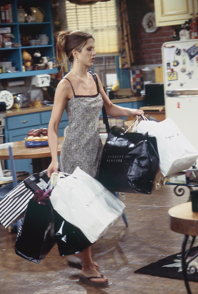 Rachel Green style: slip dress