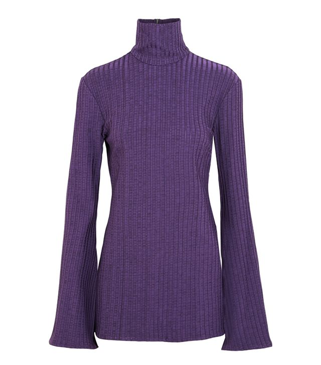 Rachel Green style: Ellery Mescaline Ribbed Stretch-Jersey Turtleneck Top