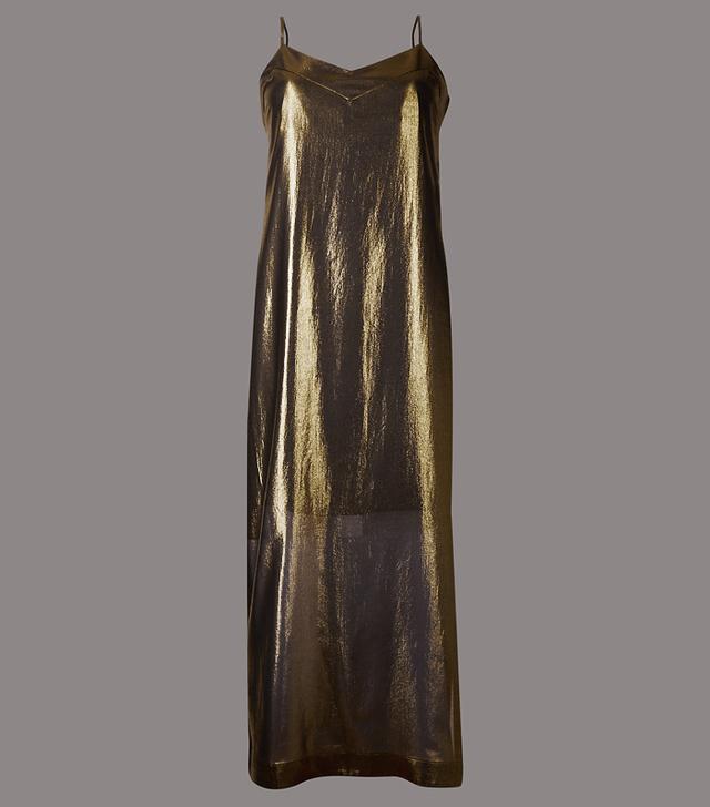 Rachel Green style: Marks & Spencer Shimmer Slip Maxi Dress