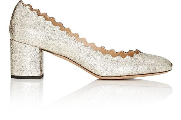 Women's Lauren Metallic Leather Pumps