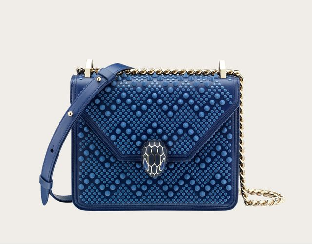 Bulgari Serpenti Forever x Nicholas Kirkwood Flap Cover Bag in Royal Sapphire