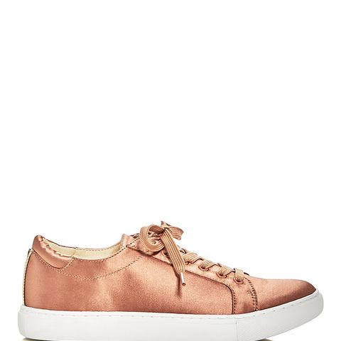 Kam Satin Lace-Up Sneakers