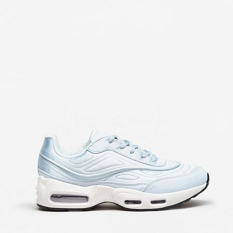 Platform Satin Sneakers