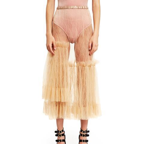 Sheer Tulle Skirt