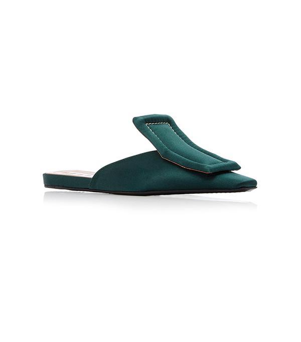 Sabot Satin Slippers