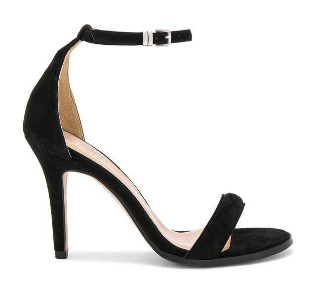 Strapply black heel sandal
