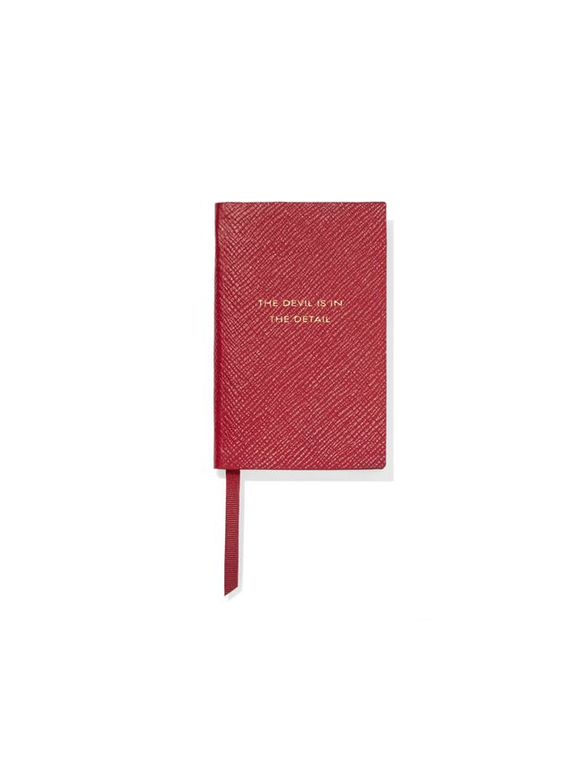 Smythson Panama The Devil Is In The Detail textured-leather notebook