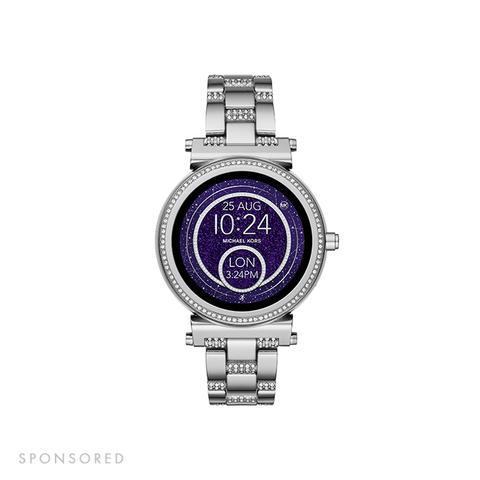Sofie Pavé Silver-Tone Smartwatch