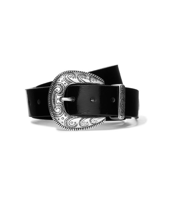 Madga Butrym Patent Textured-Leather Belt