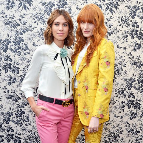 gucci belt: Alexa Chung and Florence Welch attend Gucci Timepieces and Jewelry