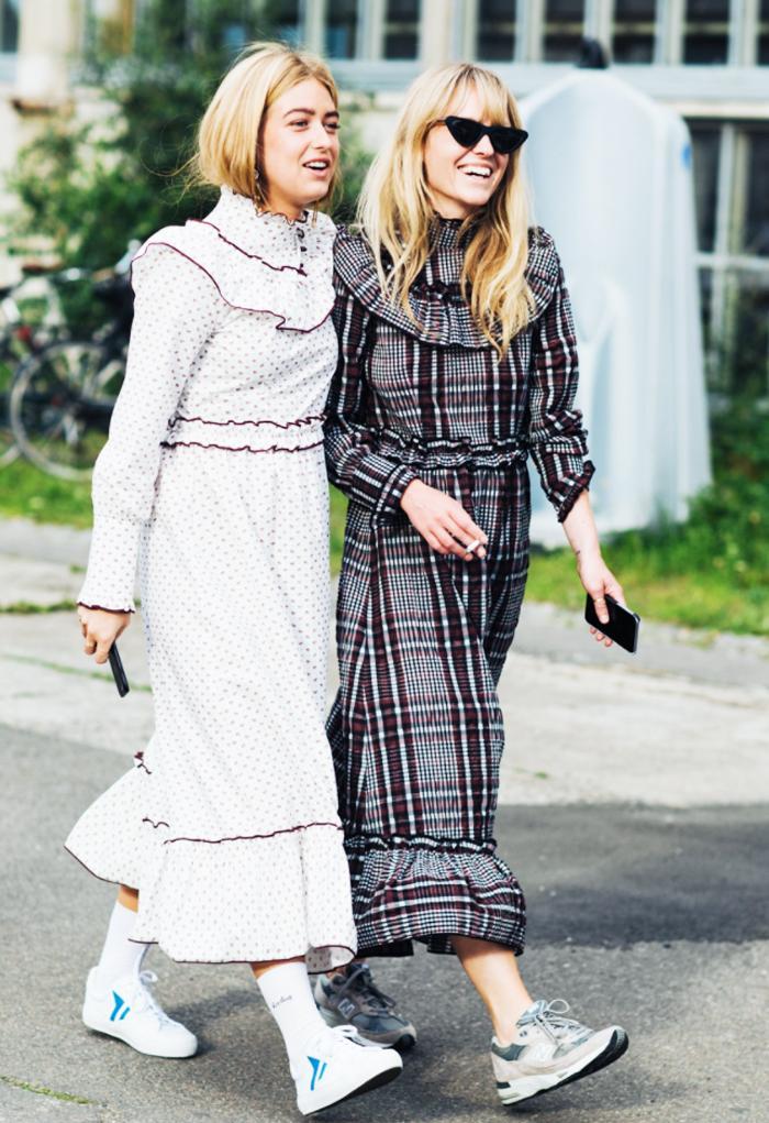 Ganni charron check dress: Jeanette Madsen