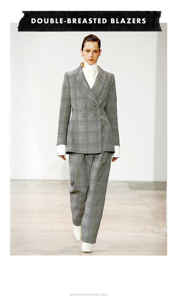 Power dressing stormed handfuls of runways, but in case a head-to-toe pantsuit is a bit much for you, we suggest starting with a perfectly tailored double-breasted blazer.