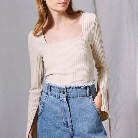 Square Neck Top by Boutique
